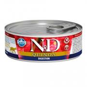 Farmina N&D Quinda консервы беззерновые для кошек для поддержки пищеварения ягненок с киноа
