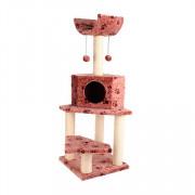 Fauna International игровая площадка для кошек Bella коричневая с лапками
