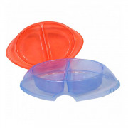 ЗооЭкспресс миска DeLuxe для собак двойная прозрачная пластмассовая
