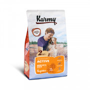Karmy Active Medium&Maxi, сухой корм для активных собак средних и крупных пород, индейка