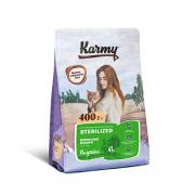 Karmy Sterilised сухой корм для стерилизованных кошек и кастированных котов индейка