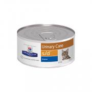 Hill's консервы для кошек S/D полноценный диетический рацион при МКБ (струвиты)