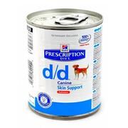 Hill's консервы для собак D/D Лосось полноценный диетический рацион при пищевых аллергиях