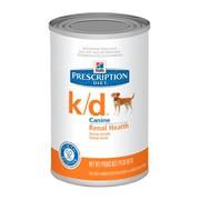 Hill's консервы для собак K/D полноценный диетический рацион при заболеваниях почек, МКБ (оксалаты, ураты)