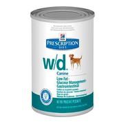 Hill's консервы для собак W/D полноценный диетический рацион при сахарном диабете, запорах, колитах