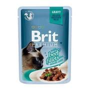 Brit Премиум пауч для кошек GRAVY Beef fillets кусочки филе говядины в соусе