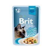 Brit Премиум пауч для кошек GRAVY Chiсken fillets кусочки куриного филе в соусе