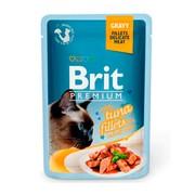 Brit Премиум пауч для кошек GRAVY Tuna fillet кусочки филе тунца в соусе