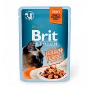 Brit Премиум пауч для кошек GRAVY Turkey fillets кусочки филе индейки в соусе