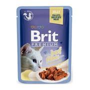 Brit Премиум пауч для кошек JELLY Beef fillets кусочки филе говядины в желе