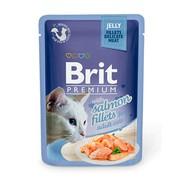Brit Премиум пауч для кошек JELLY Salmon fillets кусочки филе лосося в желе