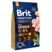 Brit Premium by Nature Adult M для взрослых собак средних пород