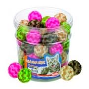 Nobby игрушка для кошек Мяч плюшевый 4см дисплей (набор)