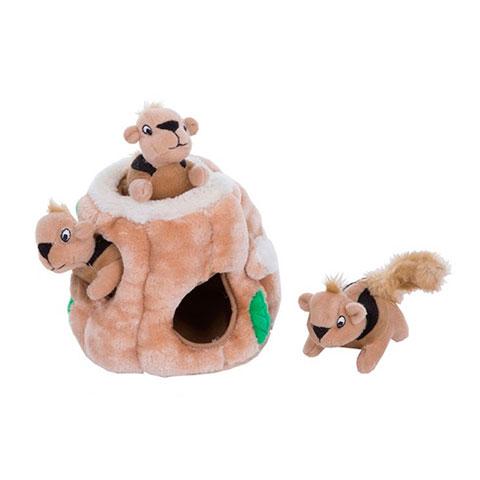 Petstages игрушка-головоломка для собак Hide-A-Squirrel (спрячь белку) малая 12см