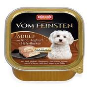 Animonda Vom Feinsten Adult меню для гурманов консервы для собак с говядиной, йогуртом и овсяными хлопьями