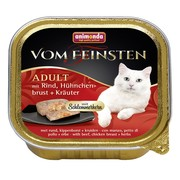Animonda Vom Feinsten Adult меню консервы для взрослых кошек говядина, куриная грудка и травы