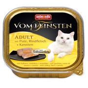 Animonda Vom Feinsten Adult меню консервы для взрослых кошек индейка, говядина и морковь