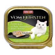 Animonda Vom Feinsten Adult меню консервы для взрослых кошек индейка, куриная грудка и травы