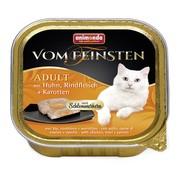 Animonda Vom Feinsten Adult меню консервы для взрослых кошек курица, говядина и морковь