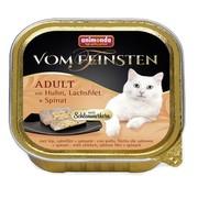 Animonda Vom Feinsten Adult меню консервы для взрослых кошек курица, лосось и шпинат