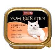 Animonda Vom Feinsten for castrated Cats консервы для кастрированных кошек с индейкой и лососем