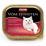 Animonda Vom Feinsten for castrated Cats консервы для кастрированных кошек с индейкой и томатами