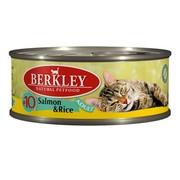 Berkly-Cat консервы для кошек лосось с рисом №10