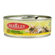 Berkly-Cat консервы для кошек цыпленок с овощами №8