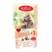Berkly-Cat фрикассе консервы для котят цыпленок с телятиной в желе пауч