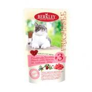 Berkly-Cat фрикассе консервы для кошек птица с куриными сердечками кусочки в желе пауч