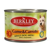 Berkly-Dog консервы для собак дичь с морковью №10