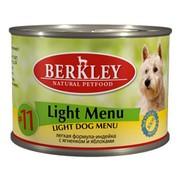 Berkly-Dog консервы для собак легкая формула индейка и ягненок №11