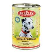 Berkly-Dog консервы для щенков кролик с овсяными хлопьями