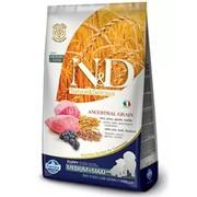 Farmina N&D LG корм для щенков, беременных и кормящих сук средних и крупных пород ягненок с черникой