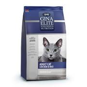 Gina Elite Cat корм полнорационный сухой для взрослых кошек цыпленок с рисом