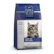 Gina Elite Cat Duck&Rice корм полнорационный сухой для взрослых кошек утка с рисом