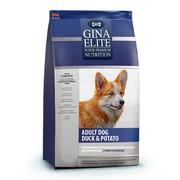 Gina Elite Dog корм беззерновой сухой для взрослых собак утка с картофелем