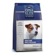 Gina Elite Dog корм сухой для взрослых собак с белой рыбой и рисом