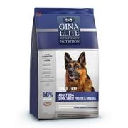 Gina Elite GF Dog корм беззерновой сухой для взрослых собак собак с уткой, бататом и апельсином