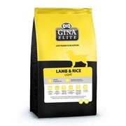 Gina Elite Lamb & Rice Light корм гиппоаллергенный сухой для аллергичных и малоактивных собак ягненок и рис