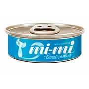 Mi-Mi консервы для кошек и котят кусочки тунца с белой рыбой в желе