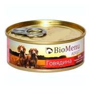 BioMenu Adult консервы для собак говядина 95%-мясо