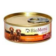 BioMenu Adult консервы для собак говядина/ягненок 95%-мясо