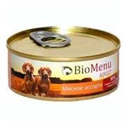 BioMenu Adult консервы для собак мясное ассорти 95%-мясо