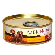 BioMenu Adult консервы для собак цыпленок с ананасами 95%-мясо