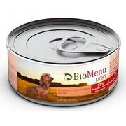 BioMenu Light консервы для собак индейка с коричневым рисом 93%-мясо