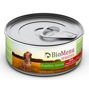 BioMenu Sensitive консервы для собак индейка/кролик 95%-мясо