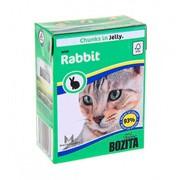 BOZITA консервы для кошек кусочки в желе кролик