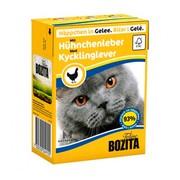 BOZITA консервы для кошек кусочки в желе куриная печень