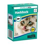 BOZITA консервы для кошек кусочки в желе морская рыба
